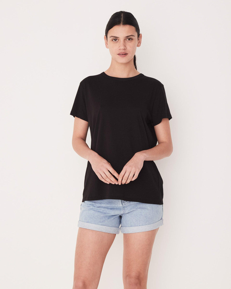 Essential Cotton Crew Tee Black - Saint Street
