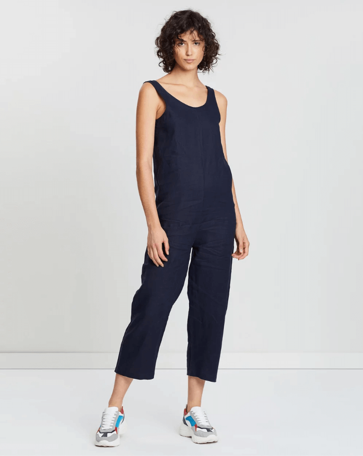 Nola Jumpsuit Worn Navy - Saint Street