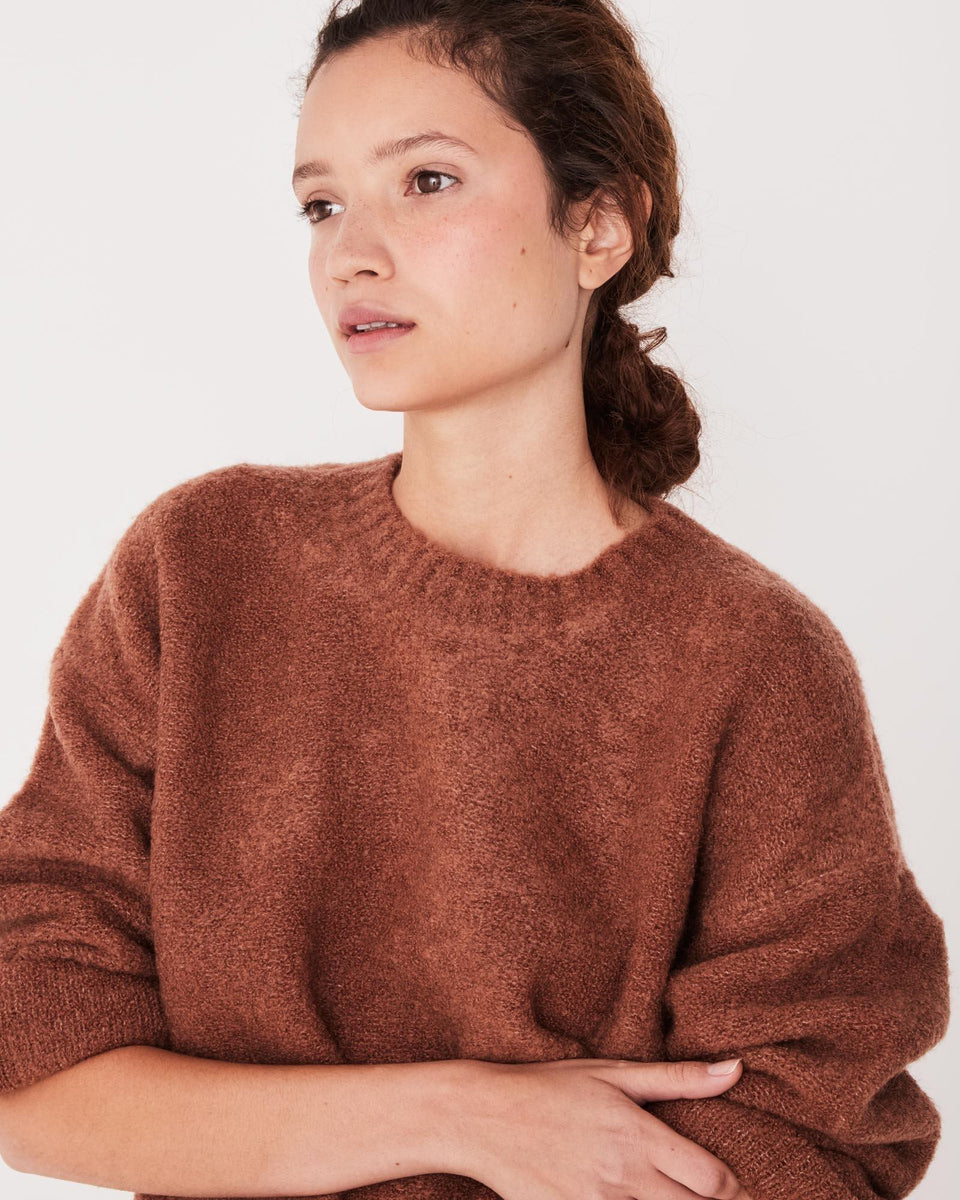 Textured Knit Terracotta - Saint Street