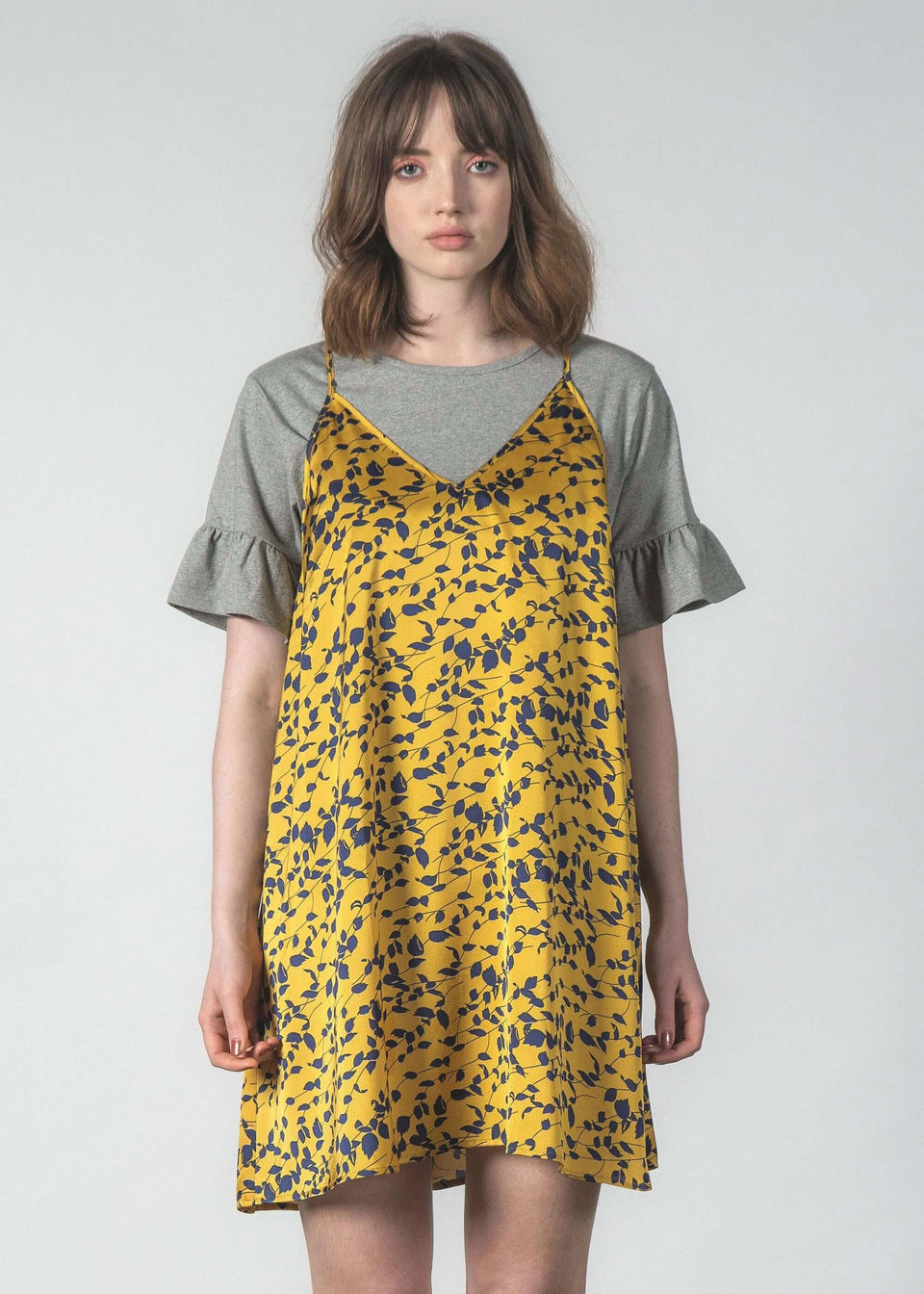 Finest Dress Canary Floral - Saint Street