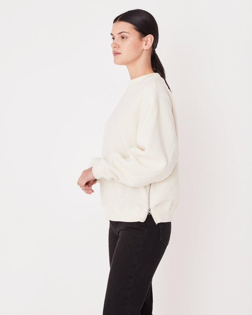 Polar Fleece Pullover Chalk White - Saint Street
