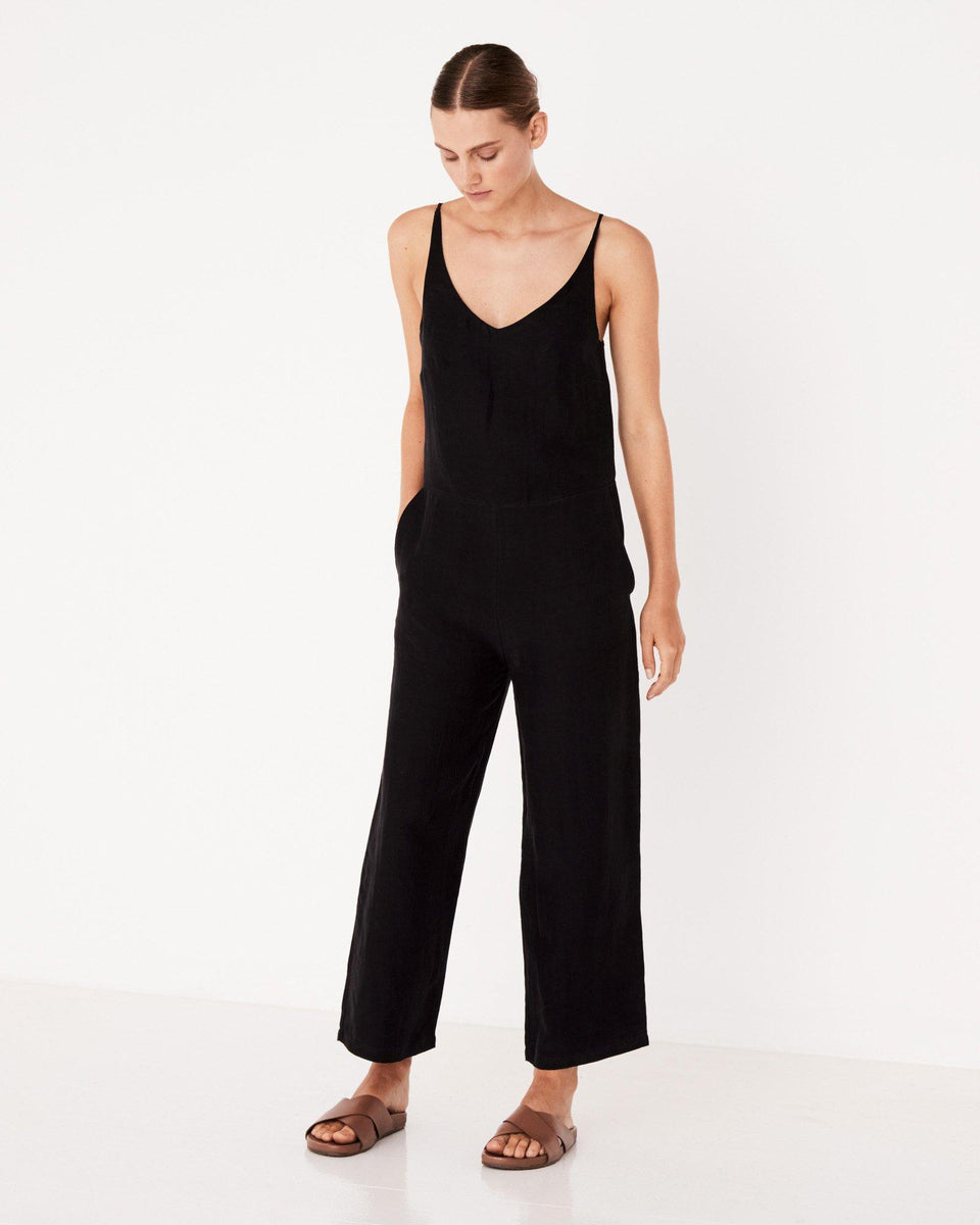 Wide Leg Jumpsuit Black - Saint Street