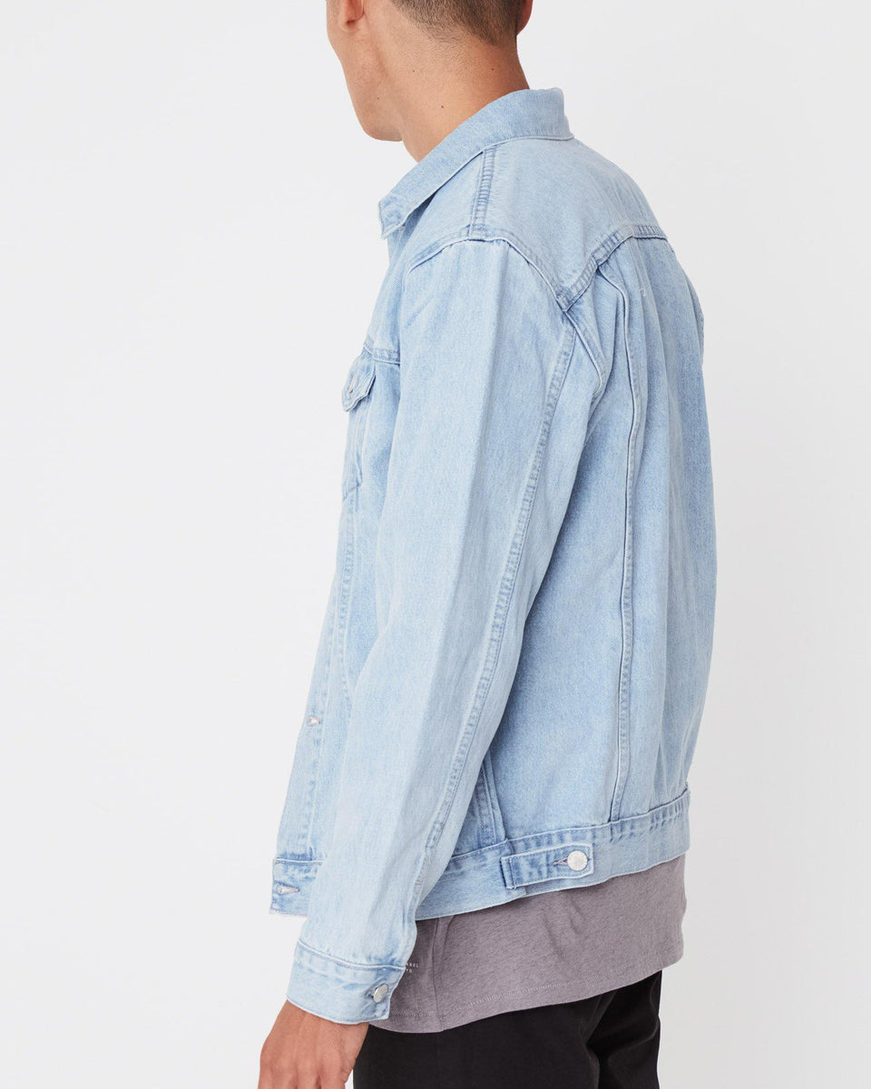 Homme Denim Jacket Pacific Blue - Saint Street