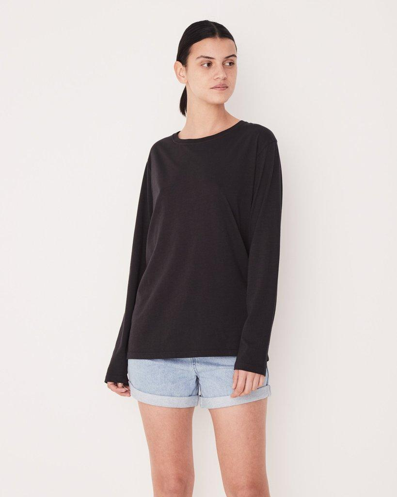 Pigment Dye Bay Long Sleeve Tee Black - Saint Street