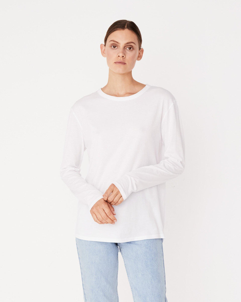 Bay L/S Tee White - Saint Street