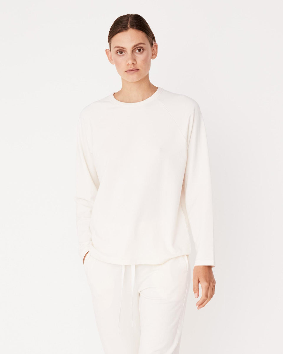 Kin Fleece Top Birch - Saint Street