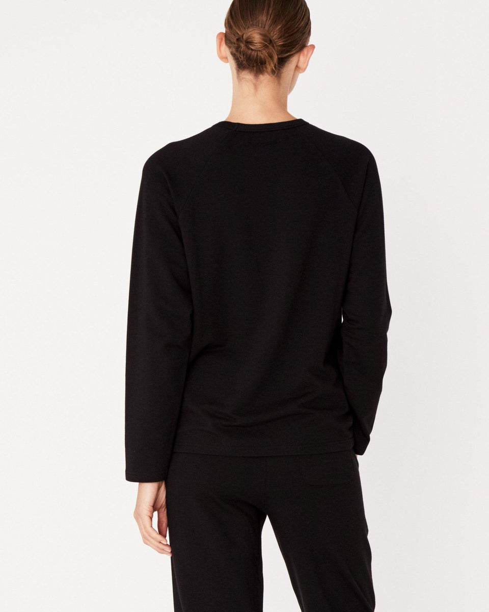 Kin Fleece Top Black - Saint Street