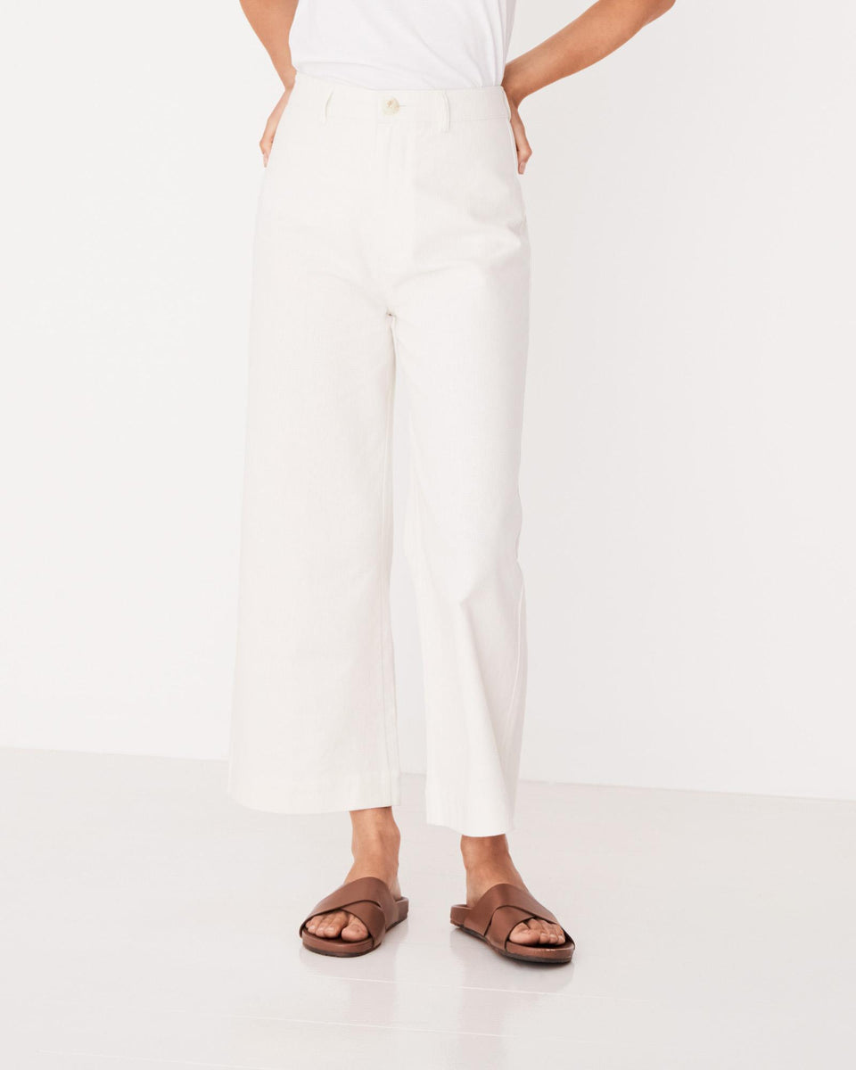 Vela Wide Leg Pant Birch - Saint Street
