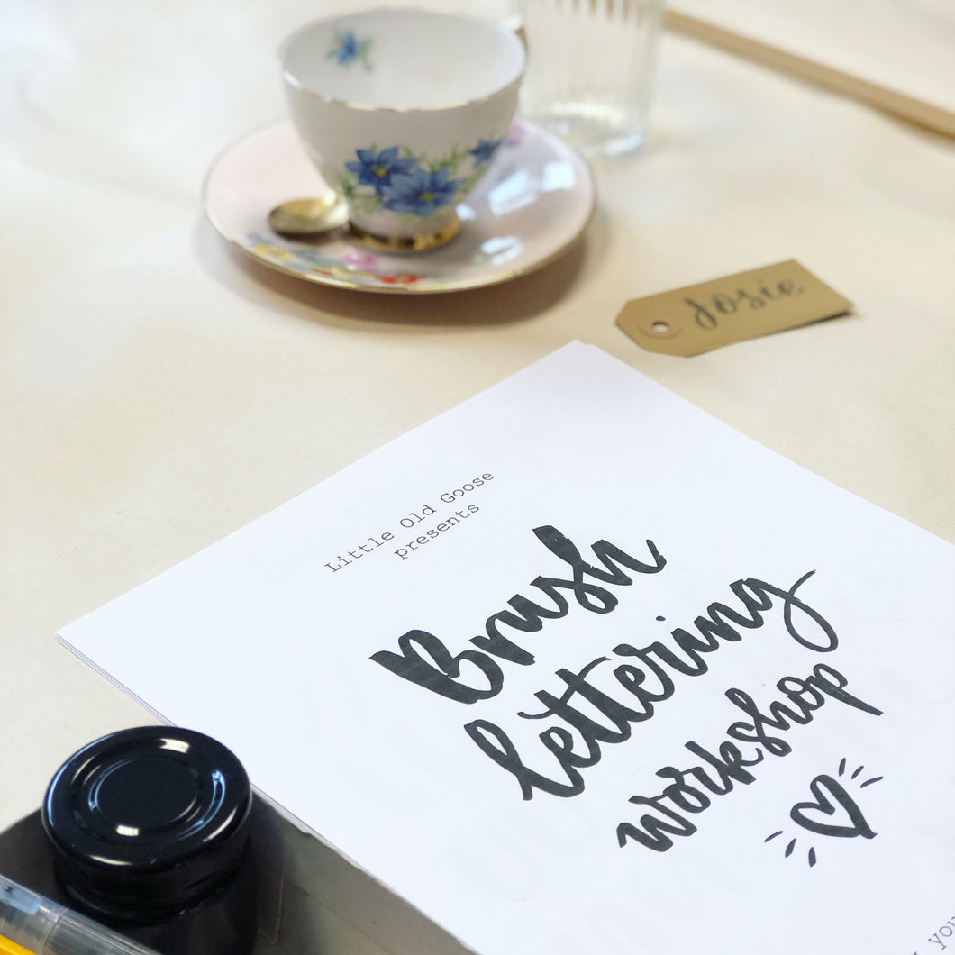 Beginners Brush Lettering Workshop - Saturday 8th February - Southsea