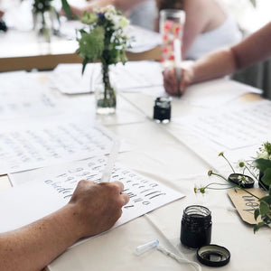 Beginners Brush Lettering Workshop - Saturday 23rd November - Market Harborough AM