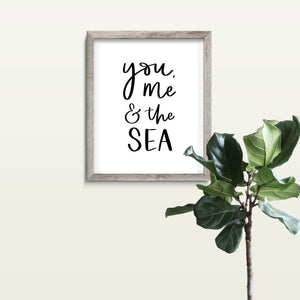 You, Me and the Sea - A4 Print