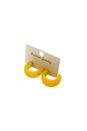 Sally Yellow Hoop Earrings