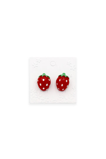 Scarlet Strawberry Earrings
