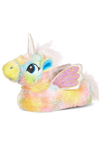 Pastel Rainbow Flying Unicorn Slippers