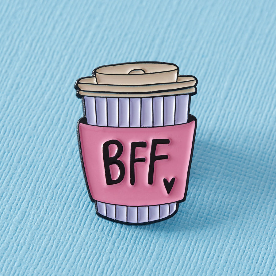 BFF Coffee Cup Enamel Pin - Lulu Hun Vintage Shoes