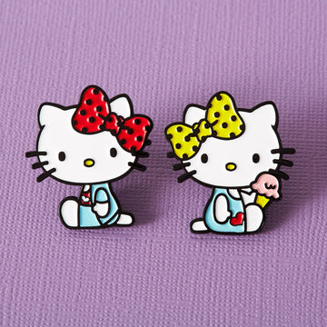 Hello Kitty Mimmy & Kitty Duo Enamel Pin Set - Lulu Hun Vintage Shoes