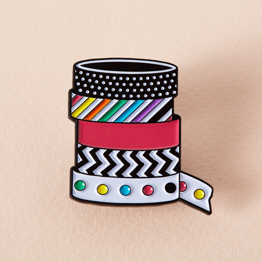 Stationary Washi Tape Enamel Pin