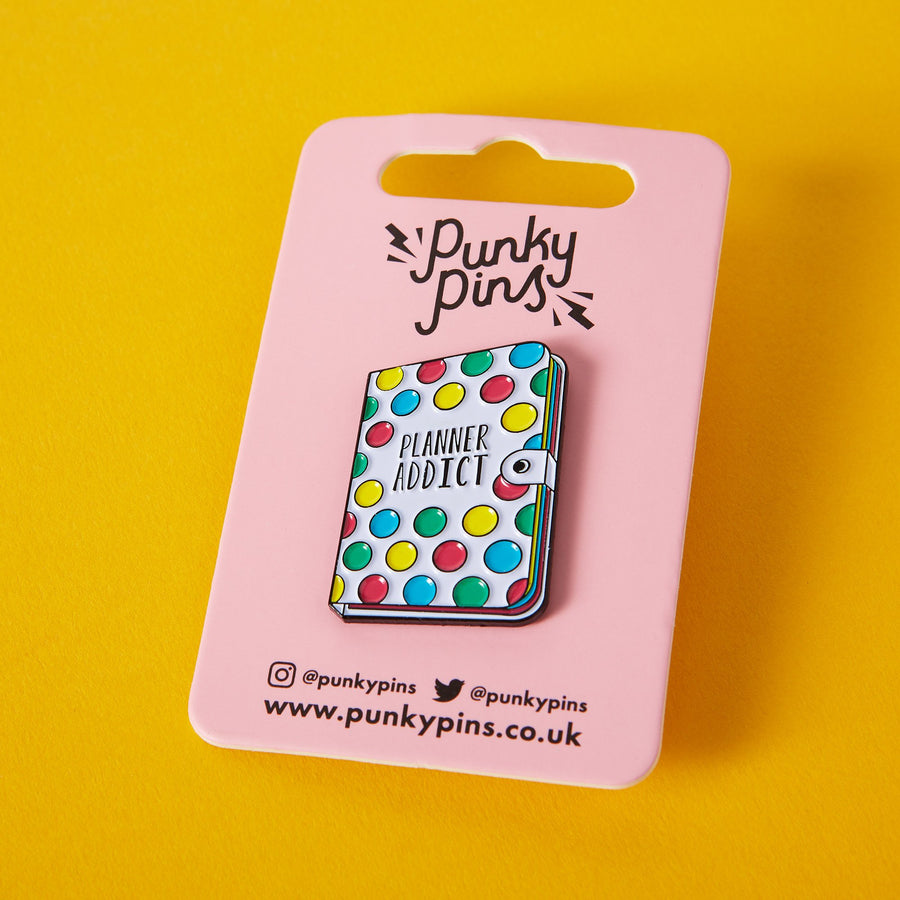 Stationary Planner Addict Enamel Pin