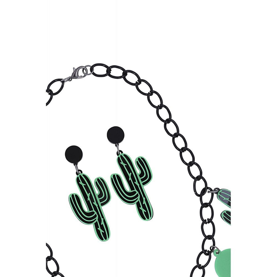 Cactus Party Necklace Set