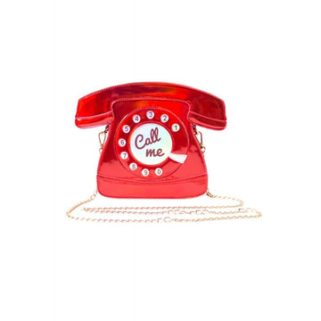 Call Me Bag - Lulu Hun Red Shiny Telephone Bag