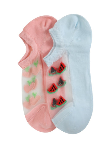 CANDY PASTEL FRUIT SOCKS - PACK OF 2