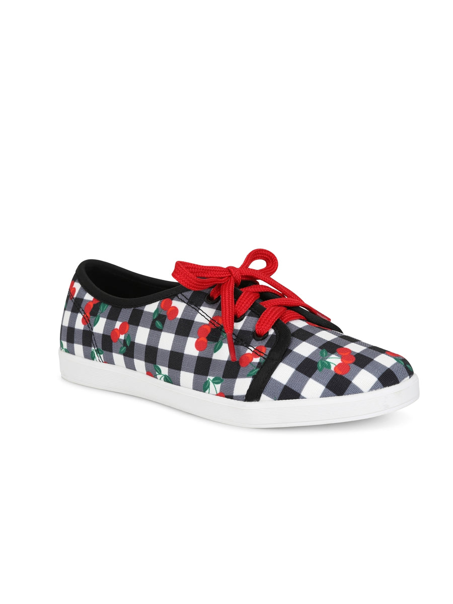 GRACE GINGHAM SNEAKERS