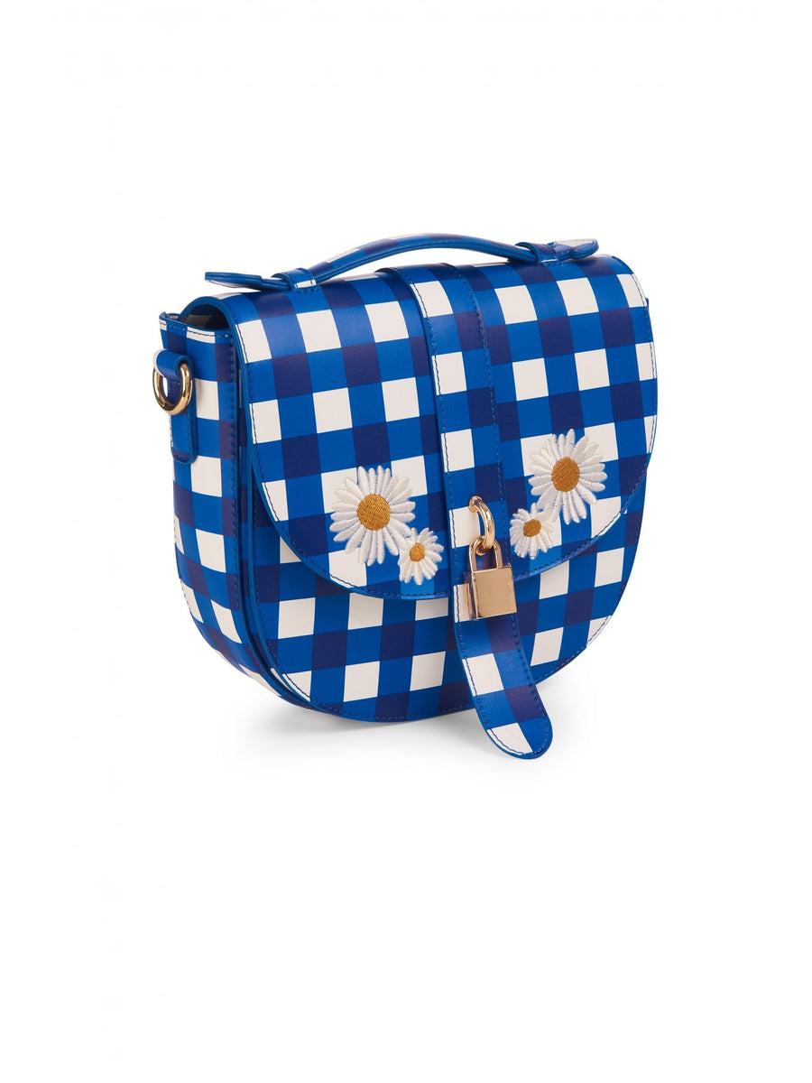 Lydia Gingham Daisy Bag