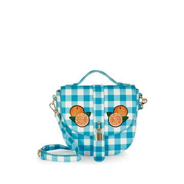 Lydia Gingham Orange Bag