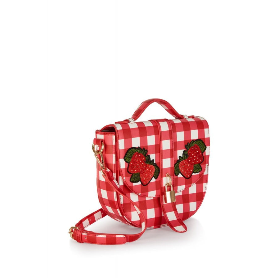 Lydia Gingham Strawberry