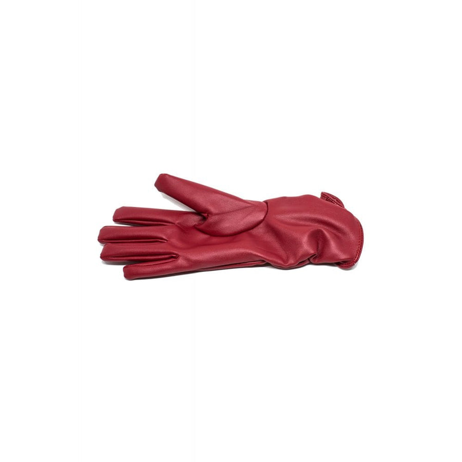 Ruched Faux Leather Gloves