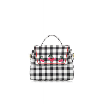 Sandra Gingham Cherry Bag