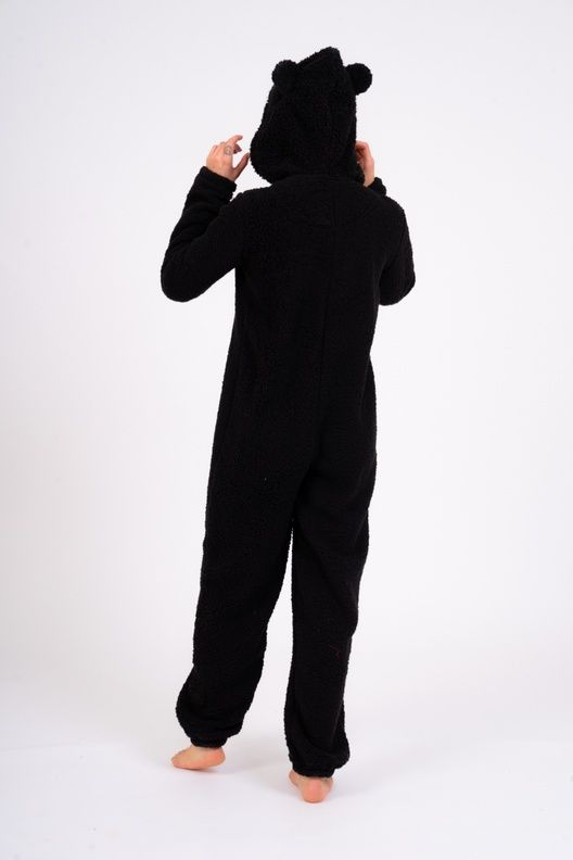 Black Fluffy Onesie