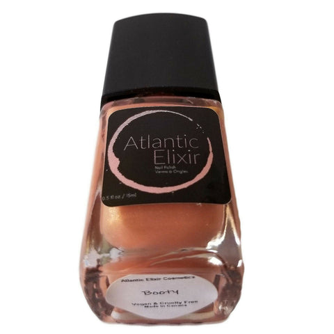 Booty | Artisan Nail Polish by Atlantic Elixir | The ultimate swag color; a luxurious & shimmering rose gold.