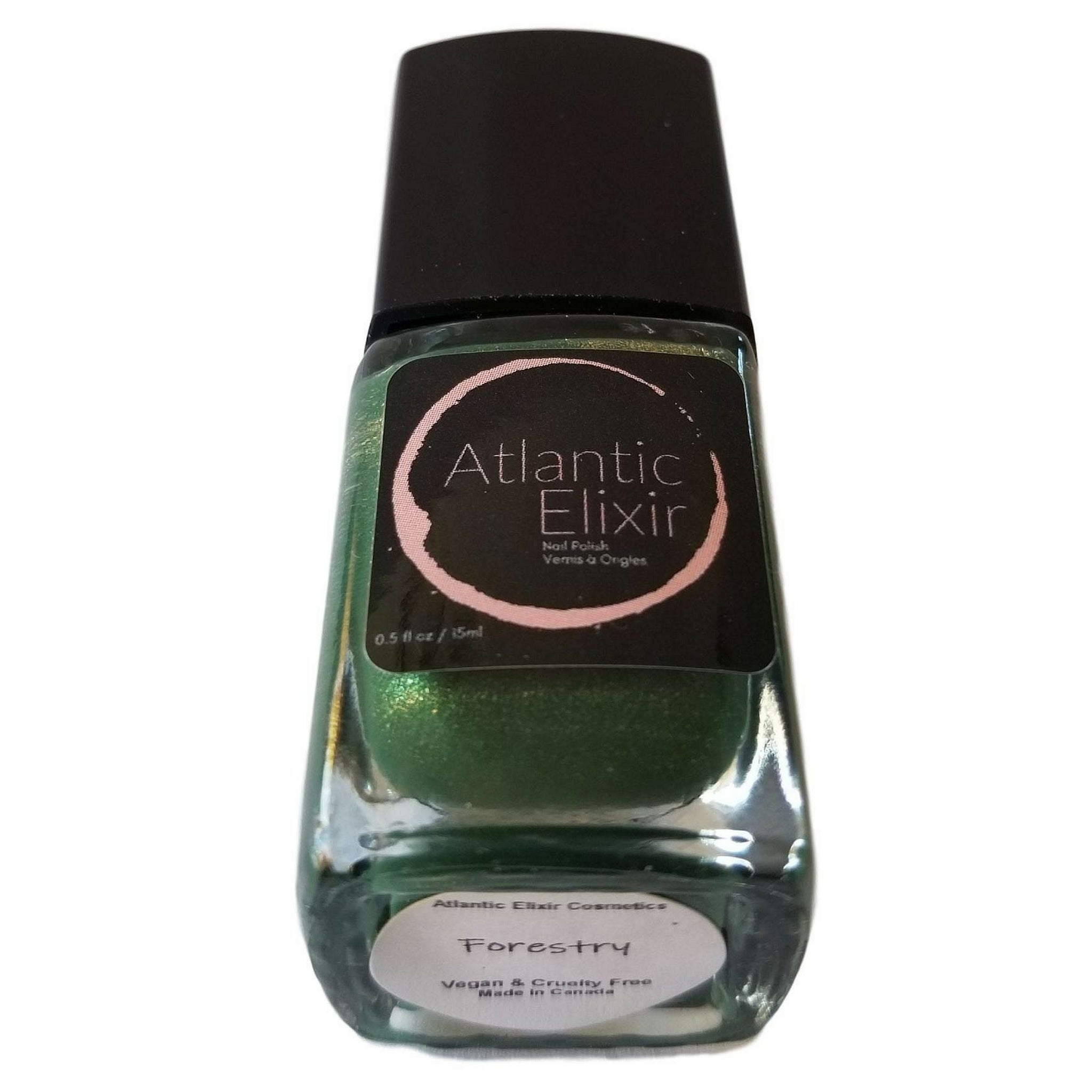 Forestry | Artisan Nail Polish by Atlantic Elixir | Enter the forest with its golden toned depths of lush green. A unique tone for admiration of all that lives.