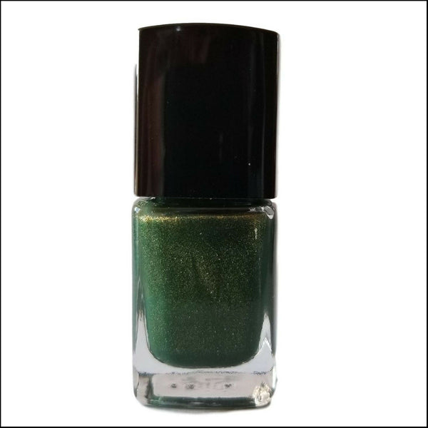 Back | Forestry | Artisan Nail Polish by Atlantic Elixir | Enter the forest with its golden toned depths of lush green. A unique tone for admiration of all that lives.