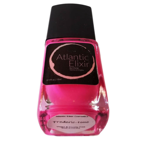 Frederic-tone | Artisan Nail Polish by Atlantic Elixir | A bright and vivacious fluorescent pink.