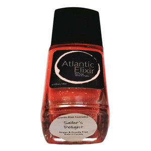 Main Photo | Sailor's Delight | Artisan Nail Polish by Atlantic Elixir | Golden Red/Pink with Gold Sparkle