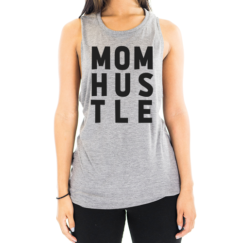 MOM HUSTLE Organic Bamboo Muscle Tank