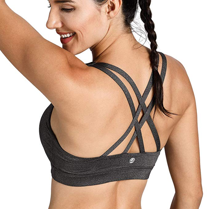 STRAPPY Sports Bra - Charcoal Gray