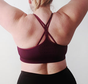 VITAL BRA - Medium Impact Support {Berry}