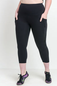 Moto Ribbed Mesh Leggings - with Pockets! {Plus Size}