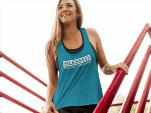 Blessed Beyond Measure Flowy Racerback Tank