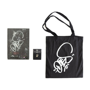 Package: Book + Pin + Bag