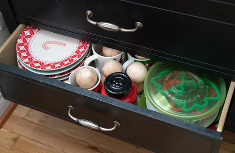 Christmas supplies in drawer