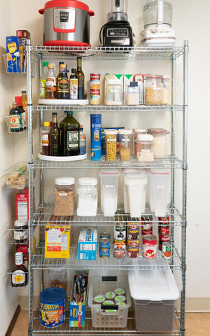 wire pantry shelves