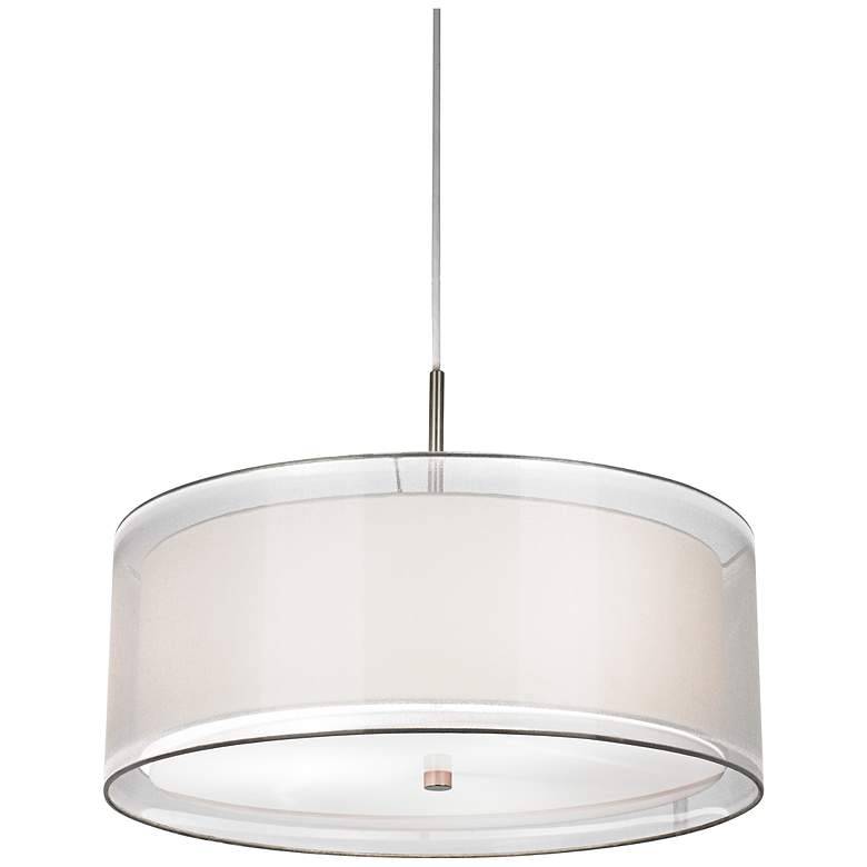 "Double Drum 20"" Pendant Light"