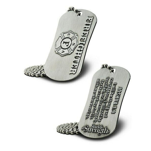 Firefighter Dog Tag and Chain