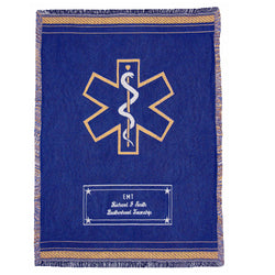 EMS Star of Life Custom Throw Blanket