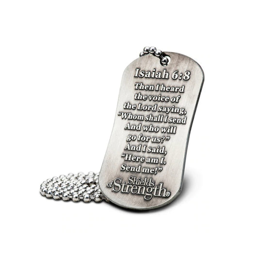 Firefighter Christian Scripture Necklace Isaiah 6:8