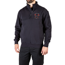 Customized 5.11 Tactical 1/4 Zip Mens Job Shirt with Crossed Axes Embroidery